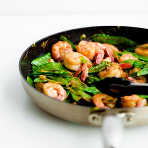 Food - Meals - Shrimp and snow pea stiry fry