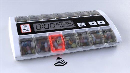 pill organizer with alarm