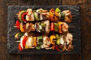 Food - Meals - Almost Spring Chicken Skewers
