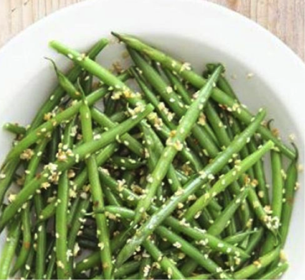 Green Beans with Miso-Sesame Sauce