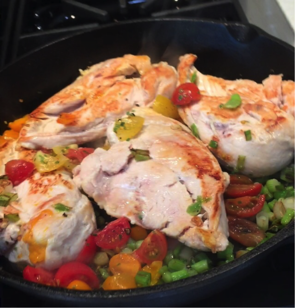 Roasted Chicken with Heirloom Tomatoes