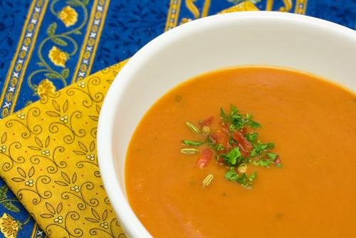 Roasted Orange Pepper Soup