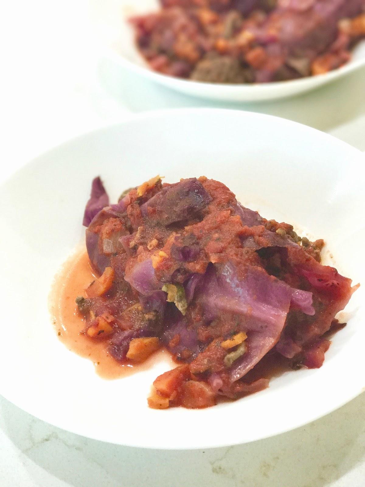 Savory and Sweet Stuffed Cabbage