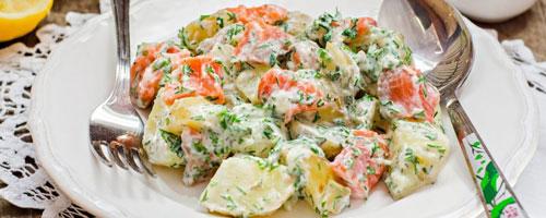 Potato and Salmon Salad
